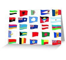 flags of the countries and states Greeting Card