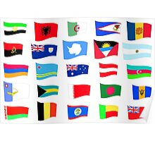 flags of the countries and states Poster