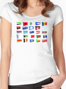 flags of the countries and states Women's Fitted Scoop T-Shirt