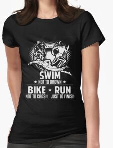 Triathlon  Just To Finish Womens Fitted T-Shirt