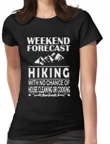 Weekend Forecast Hiking Womens Fitted T-Shirt