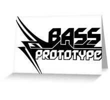 Bass Prototype Music Greeting Card