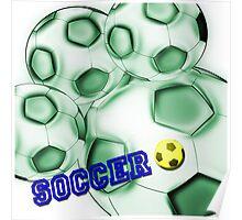 Soccer de brazil Poster