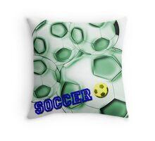Soccer de brazil Throw Pillow
