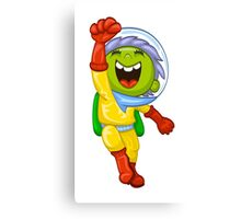 Cartoon astronaut Canvas Print