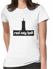 Red City Hall Womens Fitted T-Shirt