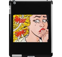 Smash! Smack! Pop art scares girl iPad Case/Skin