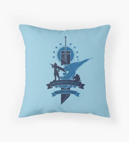 Final Fantasy 7 Cloud Strife Throw Pillow