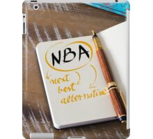 NBA as NEXT BEST ALTERNATIVE iPad Case/Skin