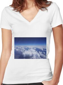 High Up in the Sky Women's Fitted V-Neck T-Shirt