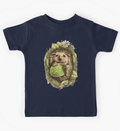 Little hedgehog colored Kids Tee