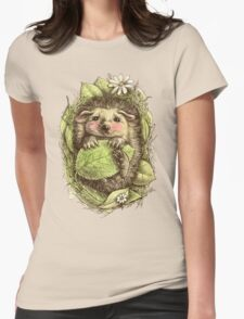 Little hedgehog colored Womens Fitted T-Shirt