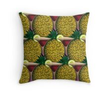 Tropical Delight Natural Throw Pillow