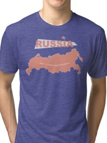 infographics Russia Tri-blend T-Shirt
