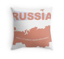 infographics Russia Throw Pillow