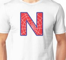 N letter in Spider-Man style Unisex T-Shirt