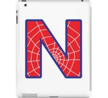 N letter in Spider-Man style iPad Case/Skin