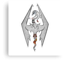 Skyrim LOGO: Reshiram Version Canvas Print
