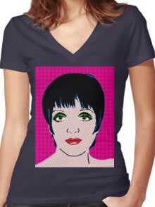 Liza By BlissNights Women's Fitted V-Neck T-Shirt