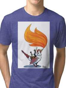 Good Mythical Morning Cockatrice Art by Mr. Ritter Tri-blend T-Shirt