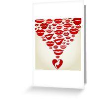Lips7 Greeting Card
