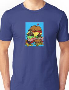 Hamburger, junk food with the lot Unisex T-Shirt