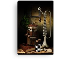 Still-life With The Trumpet Canvas Print