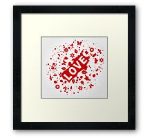 Love abstraction Framed Print