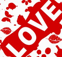 Love abstraction Sticker