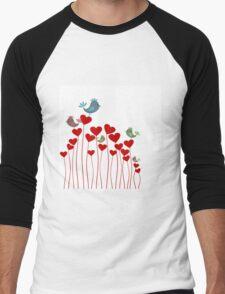 Love background3 Men's Baseball ¾ T-Shirt