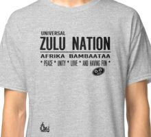 Zulu Nation old school Hip Hop  Classic T-Shirt