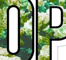 DOPE FLOWERS (GREEN VARIANT) Sticker