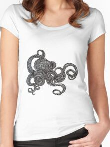 Barnacle Octopus Women's Fitted Scoop T-Shirt
