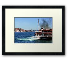 Bosphorus Strait Ferries Framed Print