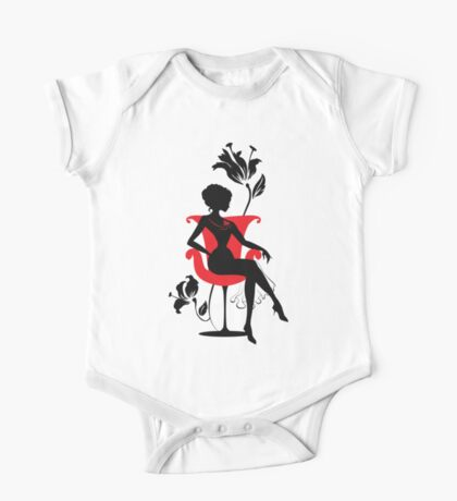 Graphic silhouette of a woman One Piece - Short Sleeve