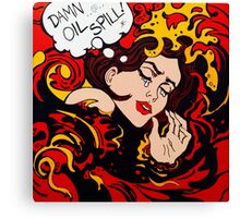 Pop Art wave, drowning in climate change, pollution Canvas Print