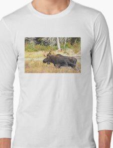 Big Bull Moose, Algonquin Park Long Sleeve T-Shirt