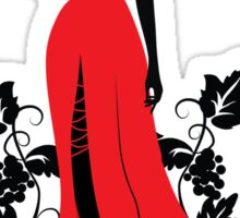 Silhouette of woman with wineglass Sticker