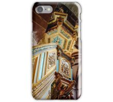 Majestic gothic church Sainte-Foy in Selestat interior, France iPhone Case/Skin