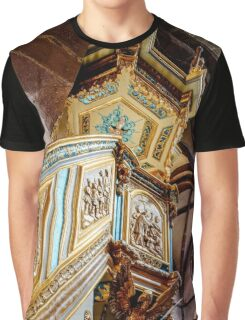 Majestic gothic church Sainte-Foy in Selestat interior, France Graphic T-Shirt