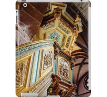 Majestic gothic church Sainte-Foy in Selestat interior, France iPad Case/Skin