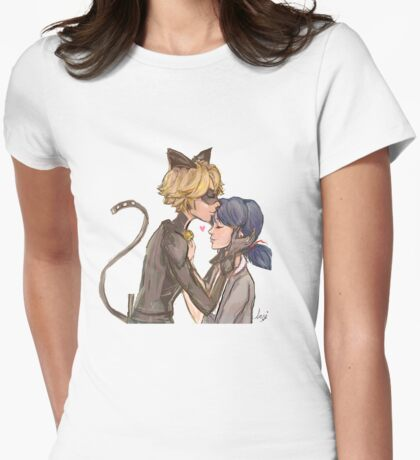Marinette & Chat Noir Womens Fitted T-Shirt