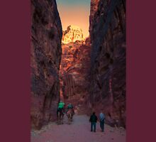 Jordan. Petra. Gorge. Sunset. Unisex T-Shirt