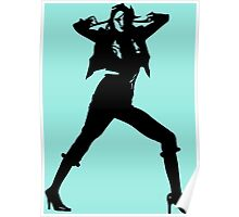 Modern stylish best selling fashion girl photo cover Poster