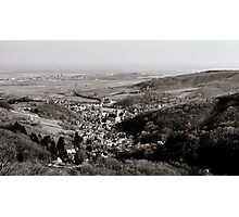 Little french village Andlau view from the top of the hill, retro vintage style Photographic Print