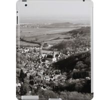 Little french village Andlau view from the top of the hill, retro vintage style iPad Case/Skin