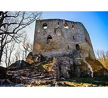 Ruins of old medieval castle Spesbourg, Alsace, France Photographic Print