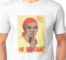 Soviet Poster: Не болтай! Unisex T-Shirt