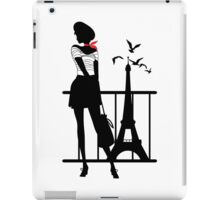 Retro woman red and black silhouette iPad Case/Skin