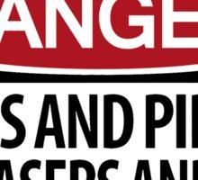 DANGER: There's danger afoot! Sticker
